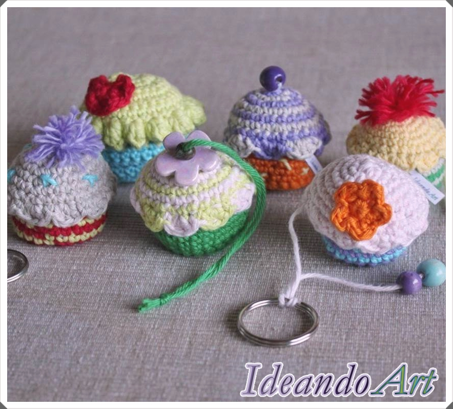 Cupcakes de crochet
