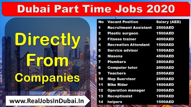 Part Time Jobs In Dubai , Abu Dhabi & Sharjah - UAE
