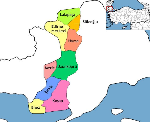 Edirne'nin İlçeleri