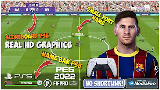 Download PES 2022 PPSSPP New Update Transfer & Best HD Graphics PS5 English Version