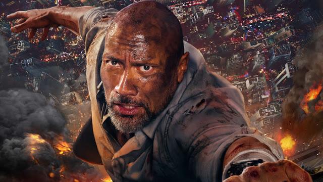 Dwayne Johnson dans Skyscraper - Fond d'Écran en Full HD