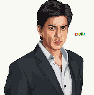 wallpaper, srk, digital art, sketch, drawing, shah rukh khan