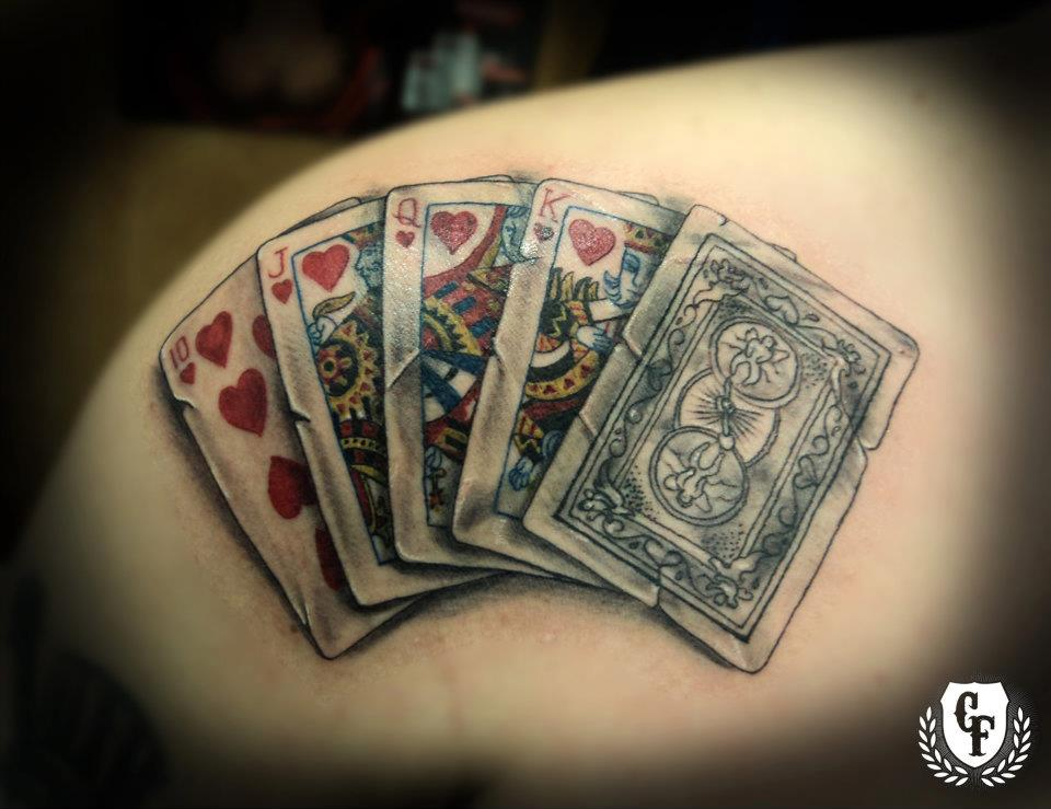 Tattoos Cartas De Poker Poker Tables Walmart