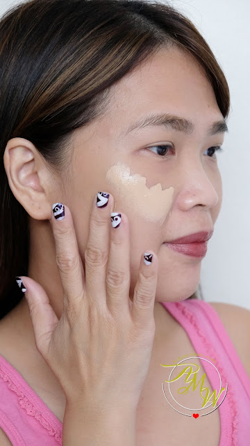 a photo on how to apply Dior Forever Skin Glow Foundation Review