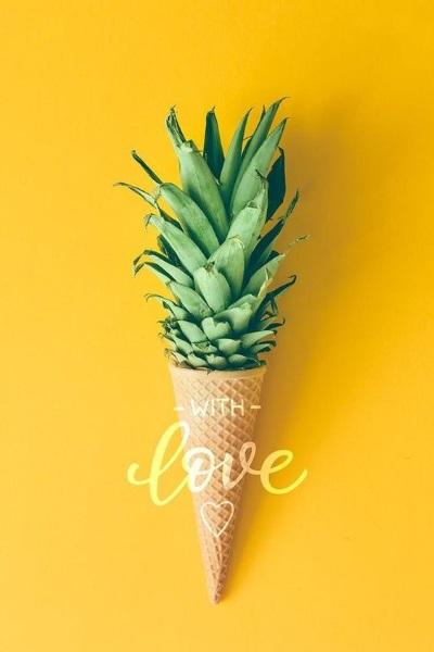 cornet de glace ananas
