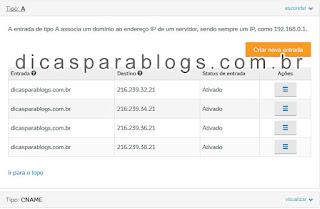 configuração de dominio no Uolhost