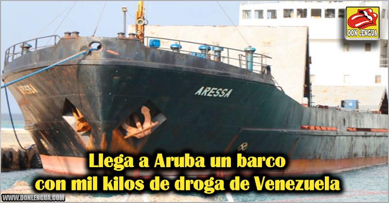Llega a Aruba un barco con mil kilos de droga de Venezuela