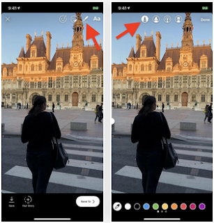 Cara Gunakan Warna Latar Kustom & Overlay Tembus dalam Cerita Instagram