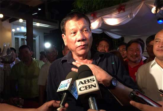 Davao Mayor Duterte runs for Presidential Elections 2016
