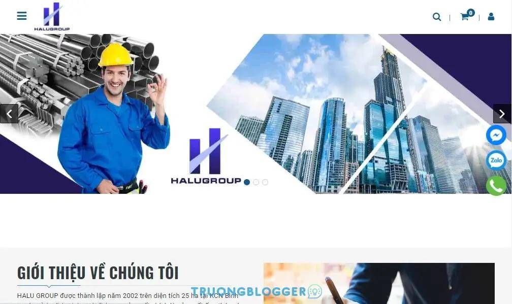 Chia sẻ mẫu Template Blogspot buôn bán vật liệu xây dựng