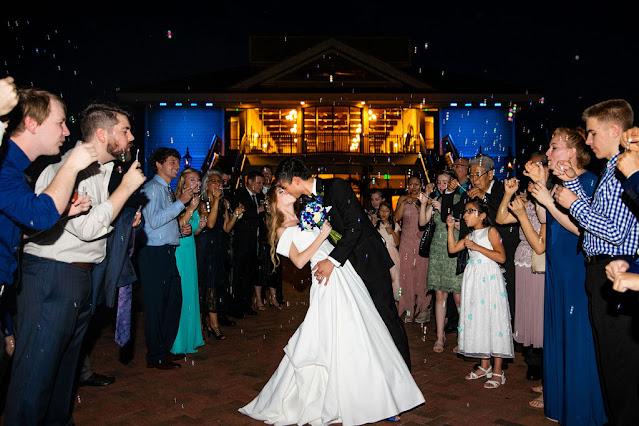 tavares pavilion on the lake wedding bubble exit