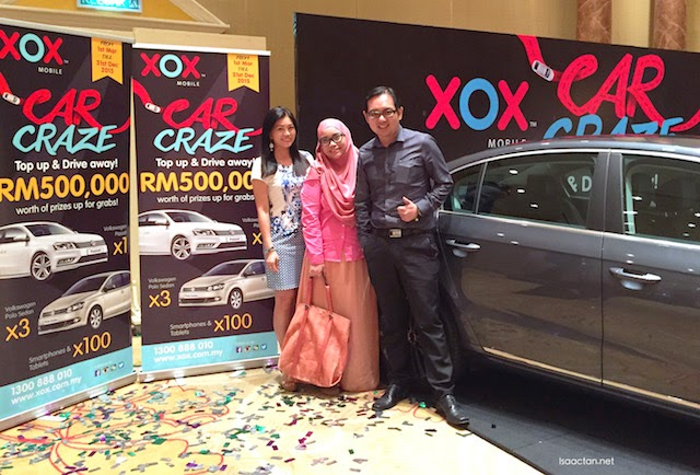 One for the album, Kelly, Ruby and I at the XOX Malaysia Car Craze launch