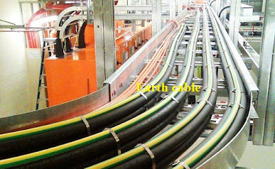 Cable trays earth cable