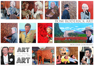 Contemporary portrait artist Tom Roderick from Boulder Colorado