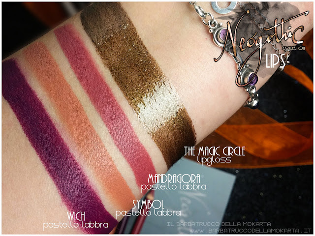lips  labbra review swatches neogothic collection neve cosmetics