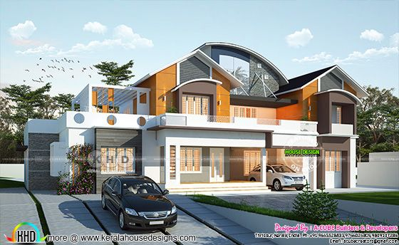 Ultra modern 4 bedroom luxury home plan