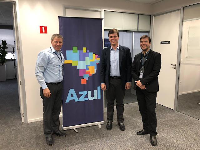 Miguel se reúne com presidente da Azul em busca de ampliação de voos e redução de tarifa para Petrolina