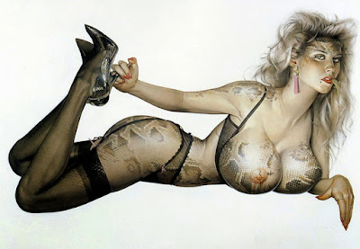 Sexis Pintura en el Pin Up Arte