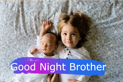 Good Night baby girl with Brother