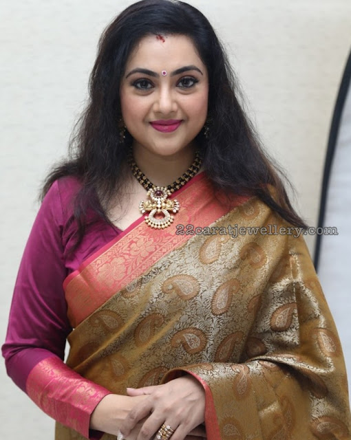 Meena Black Thread Necklace