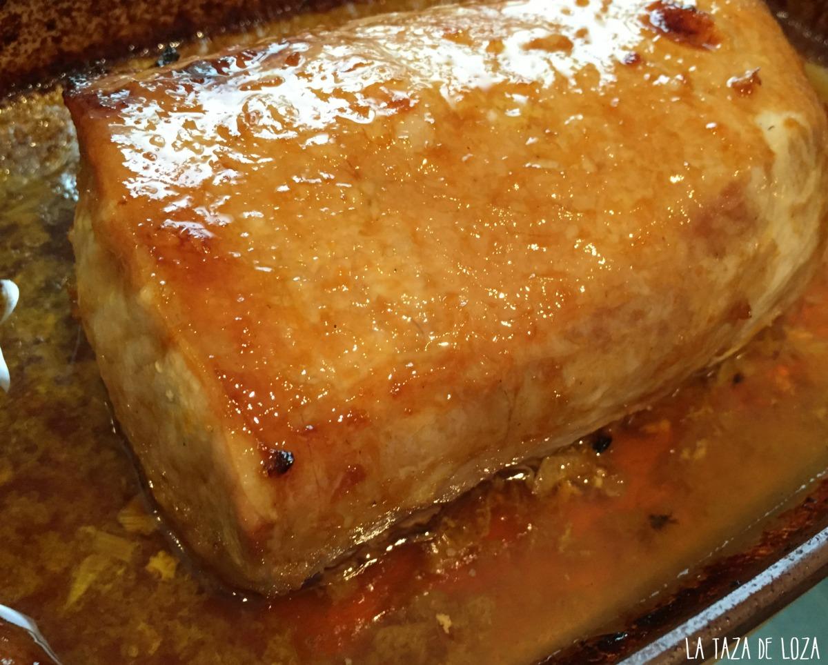 Lomo de cerdo con alm bar de naranja la taza de loza - Como se hace el almibar ...