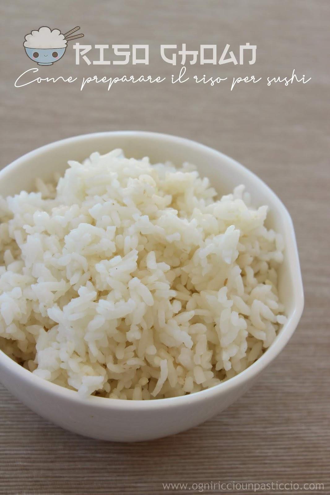 il riso per sushi