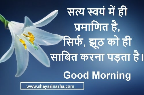 Good Morning true words Quotes in Hindi with Images