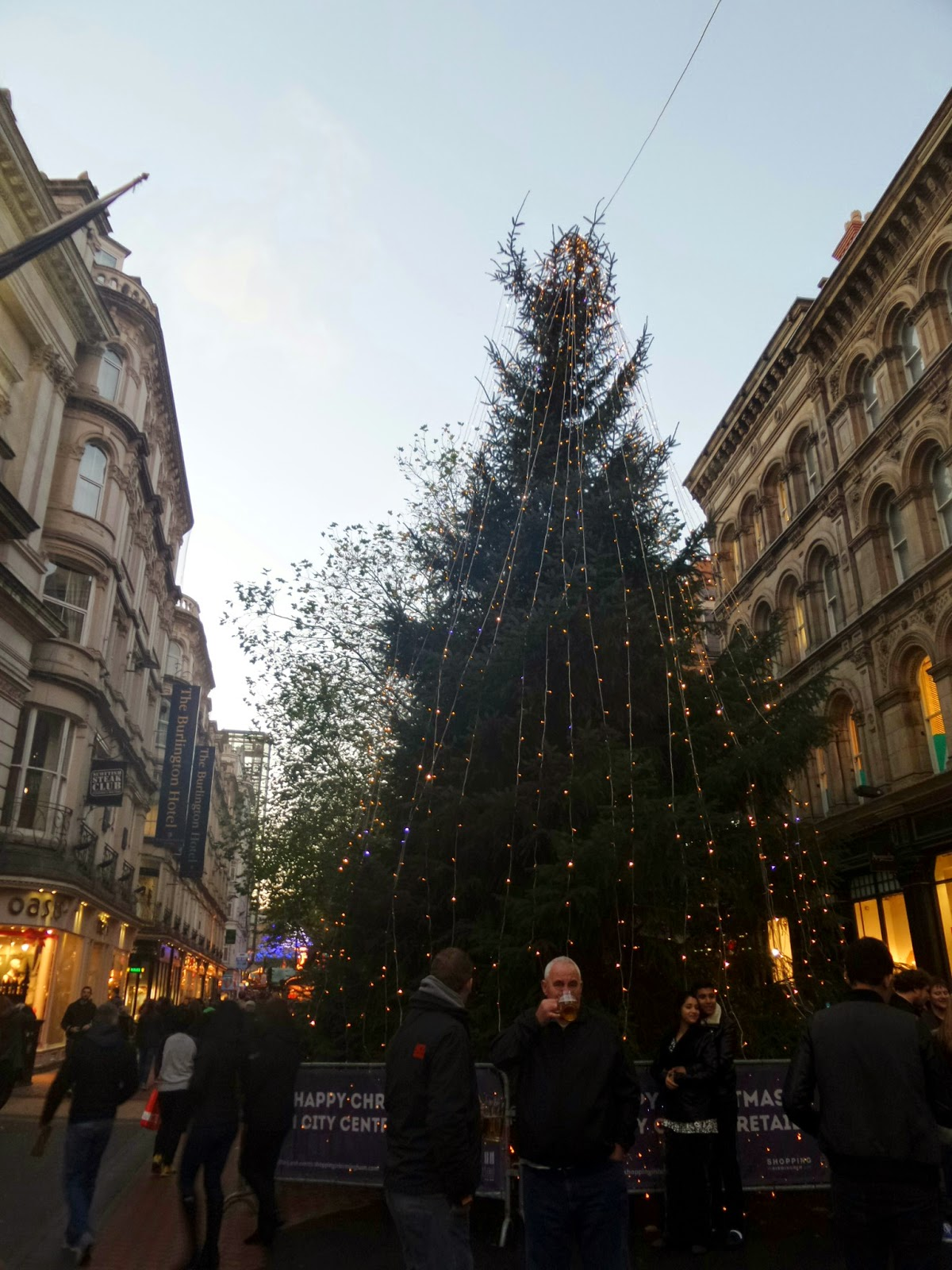 One Christmas Tree in Birmingham City Centre