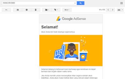 Diterima Google Adsense Hasil Ternak