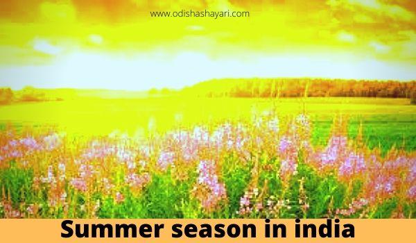 Summer season in India