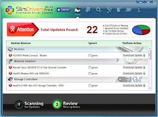تحميل برنامج تعريف اى جهاز كمبيوتر مجانا 2013 Download SlimDrivers Free
