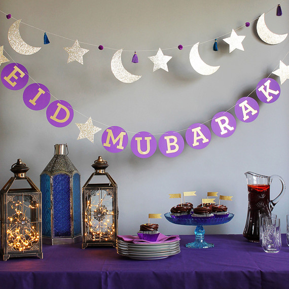 Dekorasi Ramadhan Meja Ungu