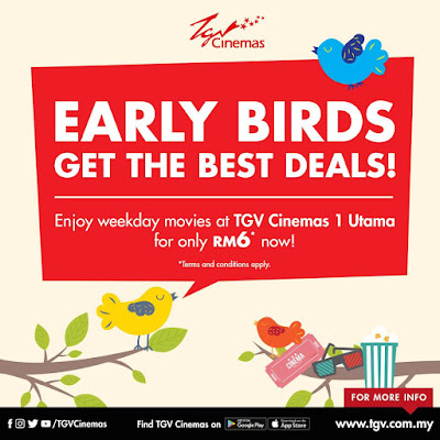 TGV Cinemas Movie Ticket Discount Early Birds Deal Promo