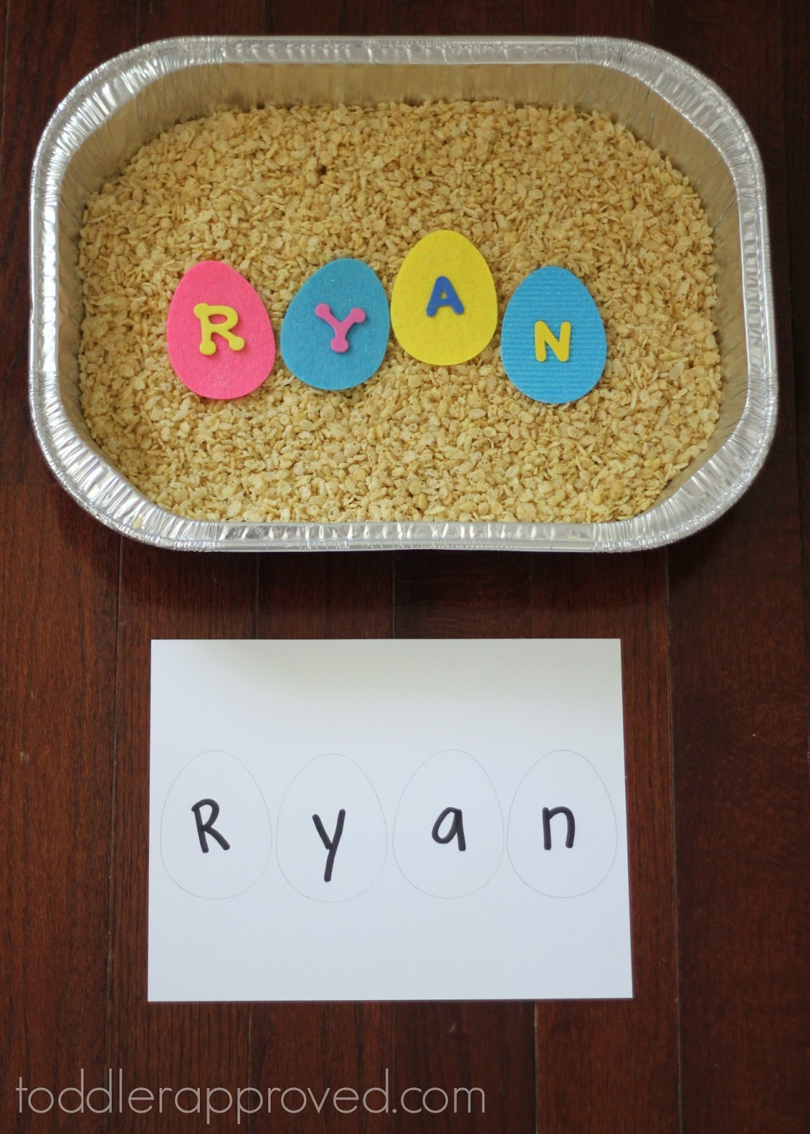 Toddler Approved Easter Themed Name Sensory Dig For
