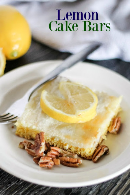Luscious lemon, cream cheese and pecans come together in these easy to make dessert bars. They are quick and fabulous!