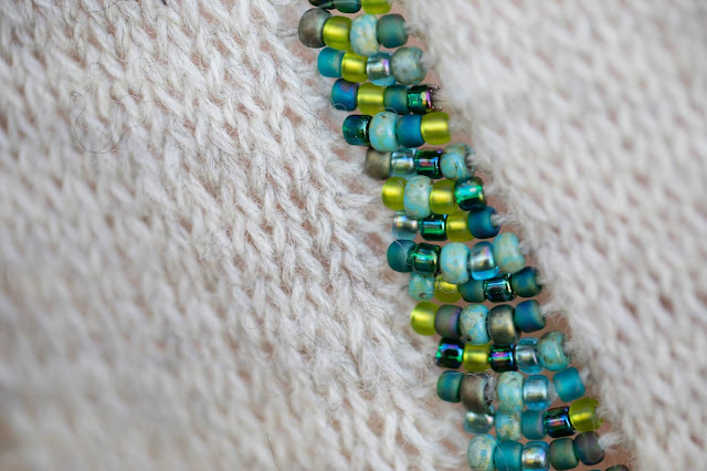 Mythaca beadwork closeup