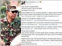 Letjen TNI (Purn) Suryo Prabowo: Publik Tak Lagi Mudah Percaya dengan Teror Bom