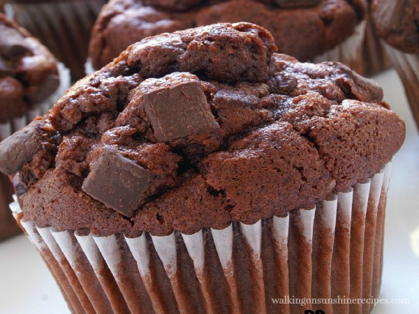 Chocolate Chunk Muffins from a Cake Mix