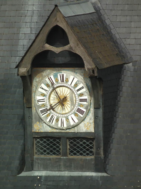 Clock tower, Porte Picois, Loches, Indre et Loire, France. Photo by Loire Valley Time Travel.