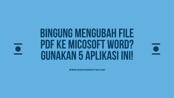 mengubah file pdf ke microsoft word