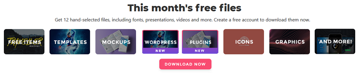Freebies of the months
