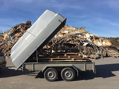 Kierrätys, Mykrä, Jätteenkäsittely, puutavaran jalostus, Kierrättäminen