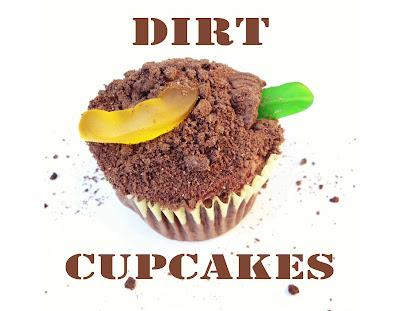 Dirt & Worm Cupcakes