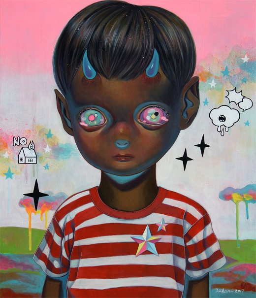 "obras de arte, pintura, pop art, cool pictures, imagenes chidas, tristes | ""Children of this Planet #39"" by Hikari Shimoda"
