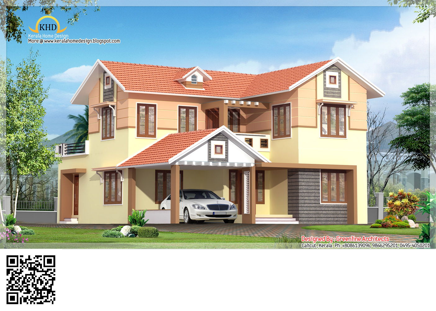 Ground Floor Villa Elevation : Mordern villa elevation sq ft kerala home