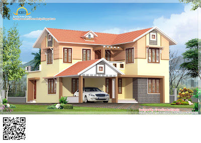 Mordern villa elevation - 218 Square meter ( 2352 sq. ft.) - November 2011