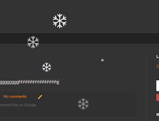 snow falling widget for blogger