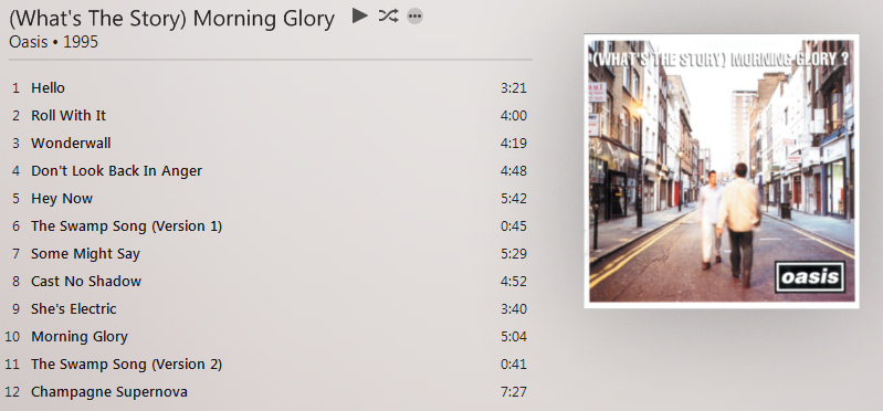 What's The Story Morning Glory - Oasis iTunes Plus AAC M4A