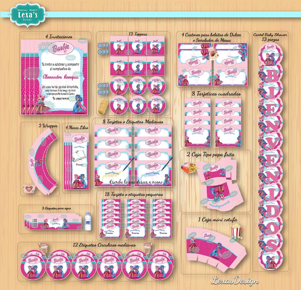 Kit imprimibles para fiestas Barbie Campamento Rock  gratis