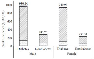 図:糖尿病と脳卒中 男女